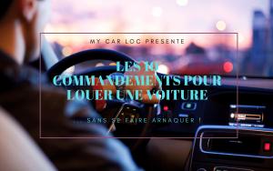 Illustration LES 10 COMMANDEMENTS POUR LOUER UNE VOITURE